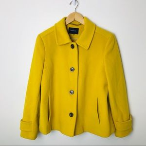 Lands End Wool Cashmere Pea Coat